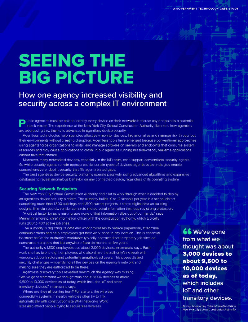 Seeing the Big Picture: Increasing Visibility & Security Across a Complex IT Environment