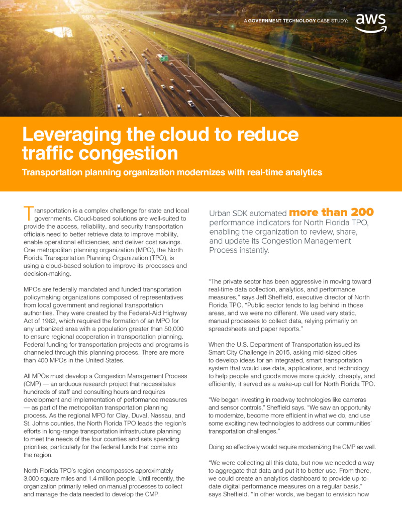 Leveraging the Cloud to Reduce Traffic Congestion