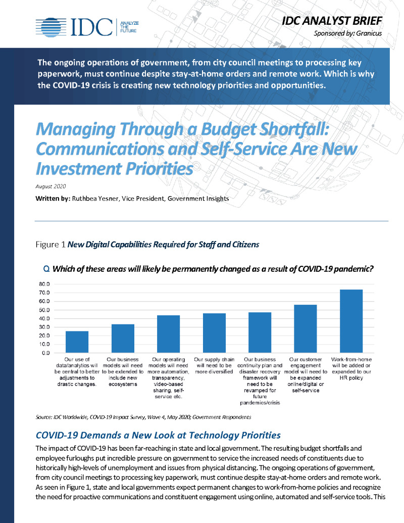 Managing Through a Budget Shortfall