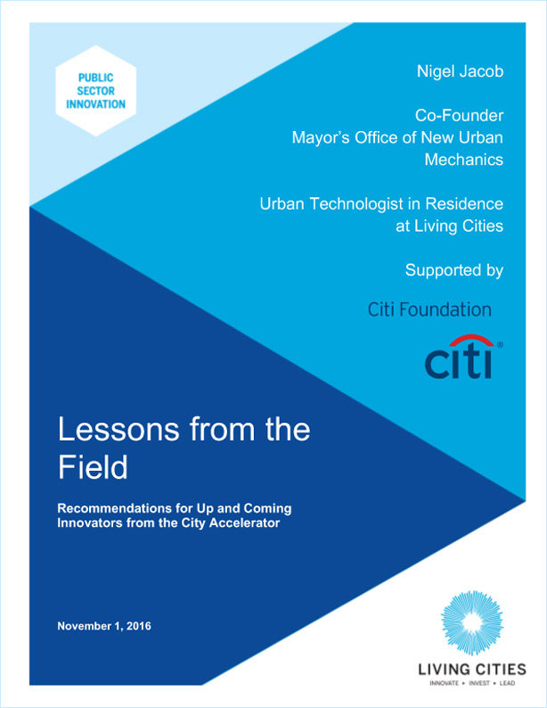 GOV - City Accelerator 2018 - Lessons from the Field