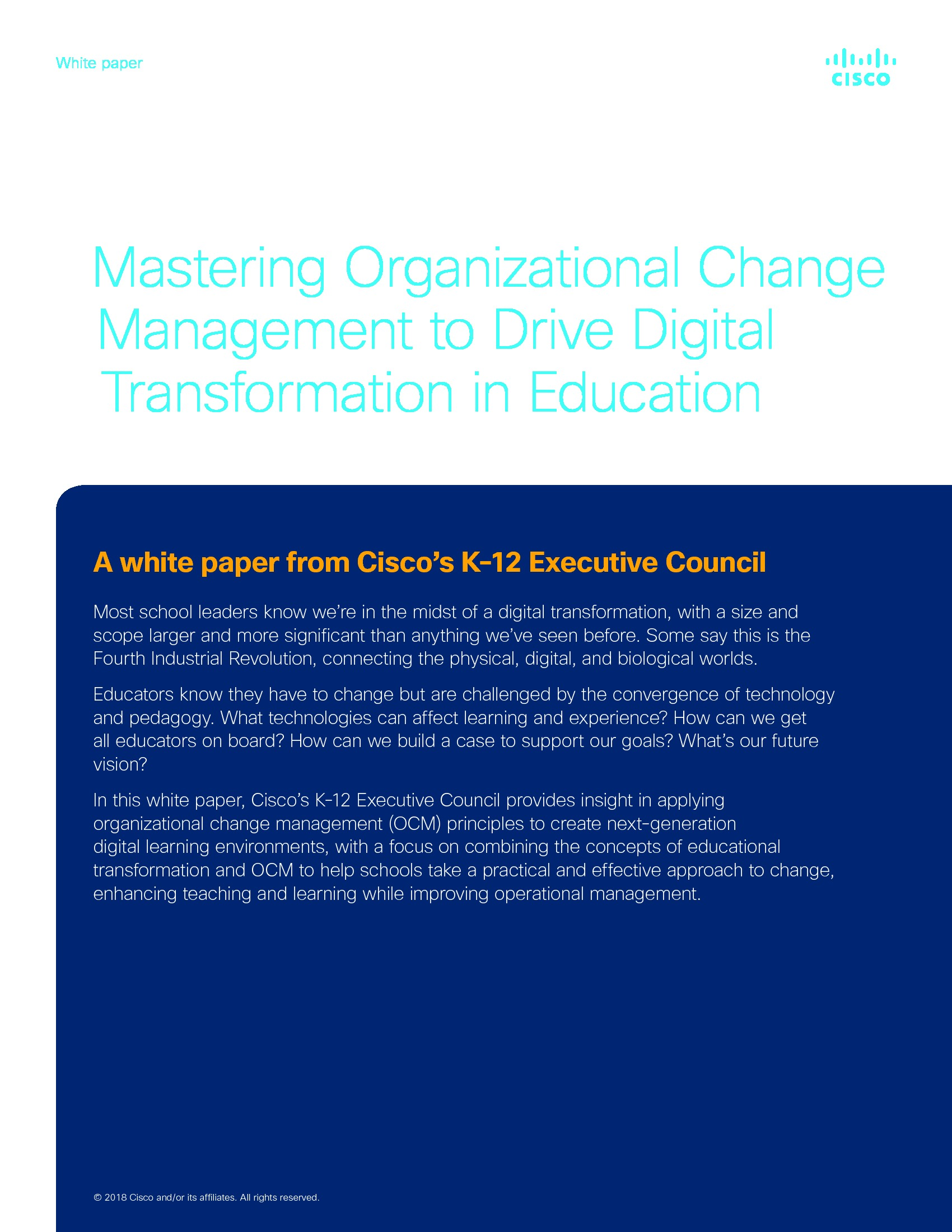 CDE - Cisco - Client Supplied - 180508 - Mastering Organizational Change Manage