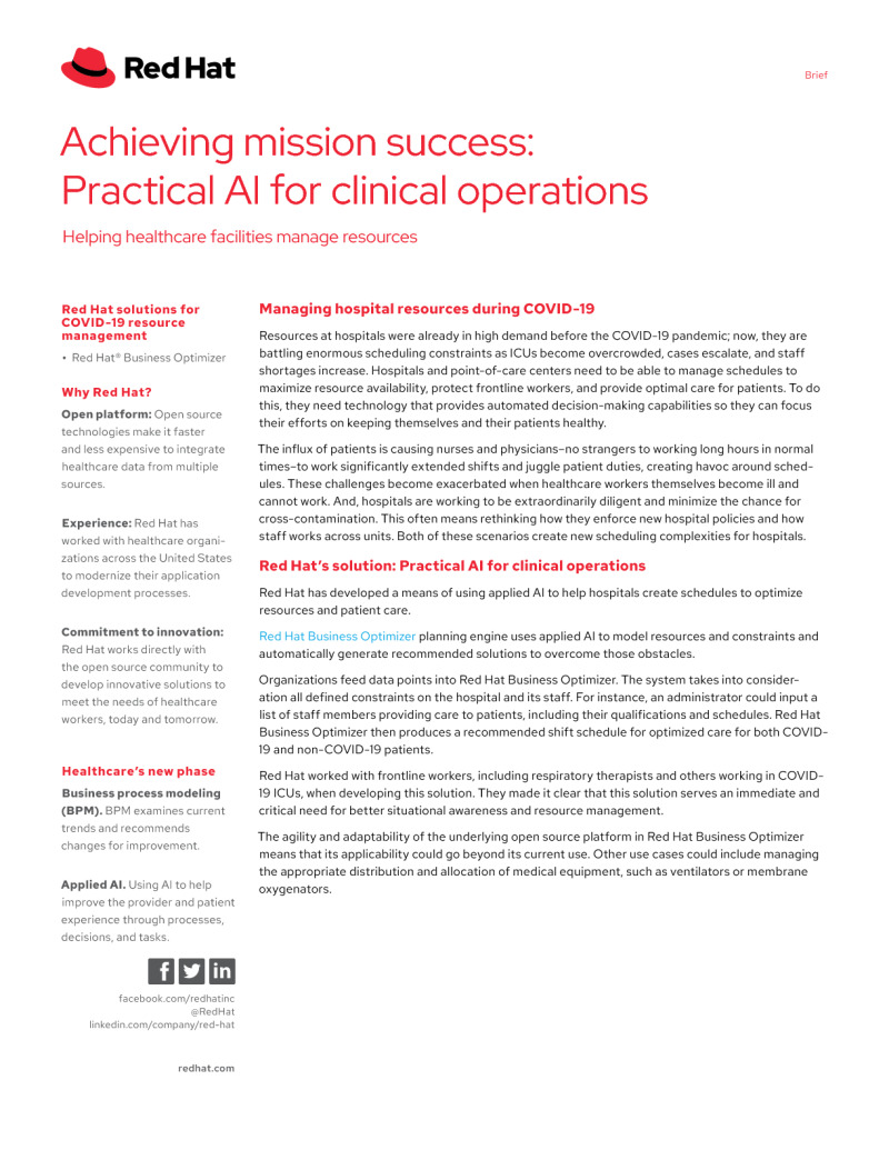 Achieving Mission Success: Practical AI for Clinical Operations