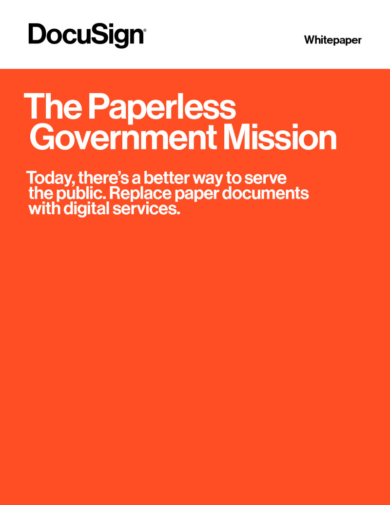 The Paperless Government Mission