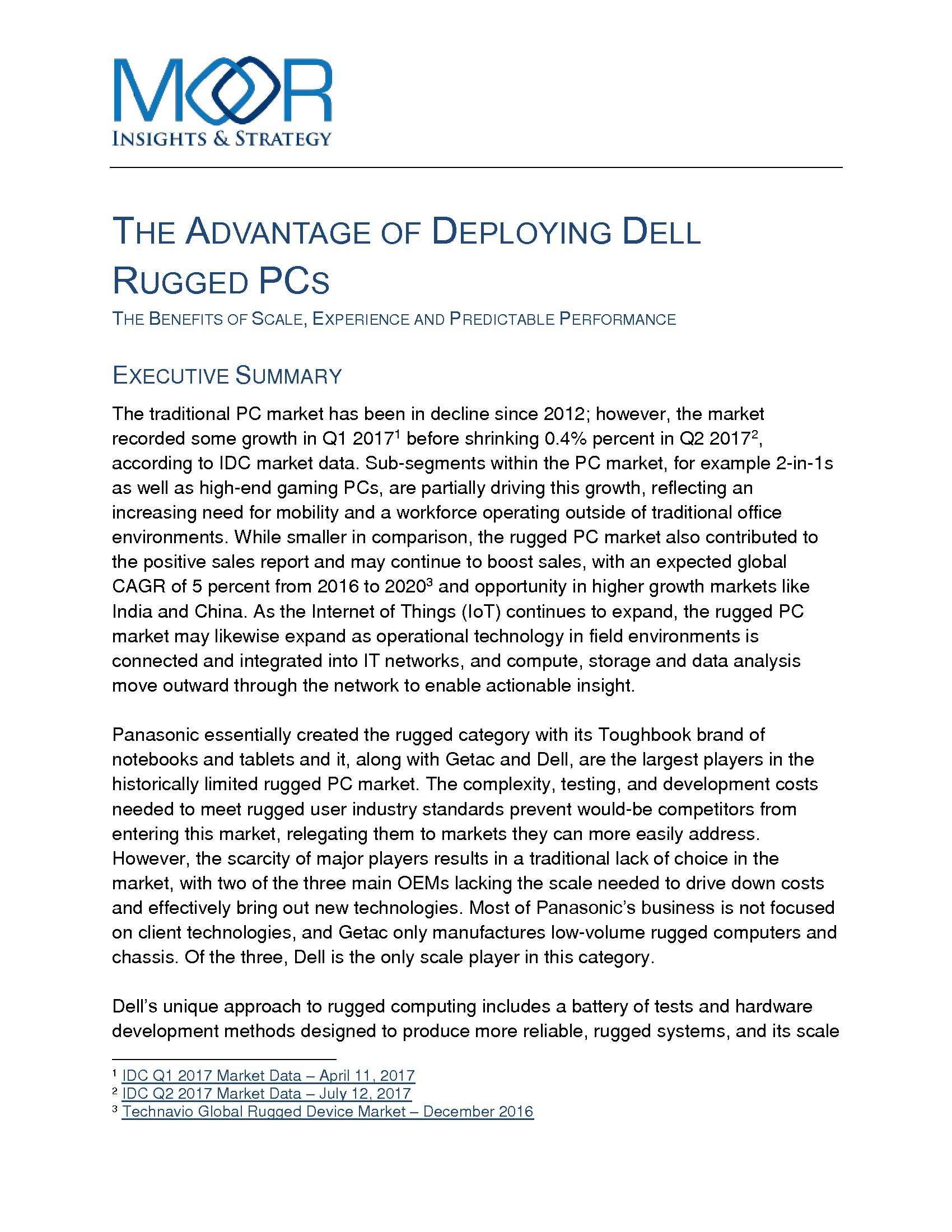 GT - Dell - Client Supplied - 180731 - Deploying Dell Rugged PCs
