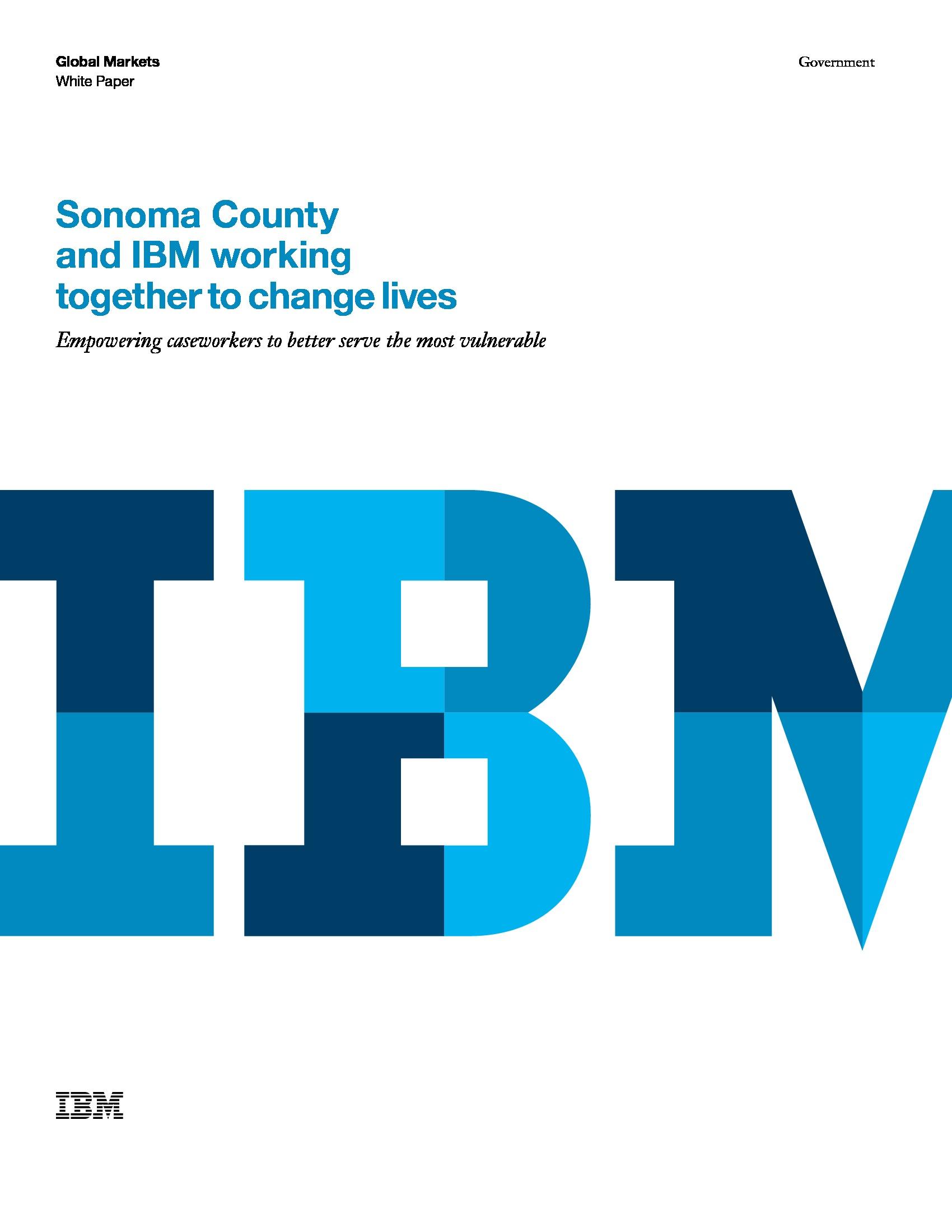GOV - IBM - Smarter Microsite 2019 - Sonoma County