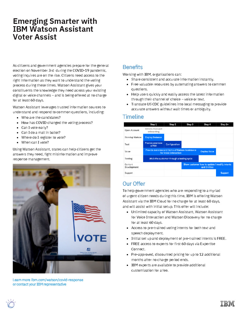Emerging Smarter with Voter Assist