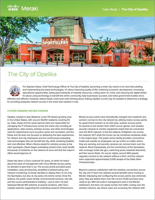 GT - Cisco Meraki - Client Supplied - 180402 - Enabling Smart City Projects