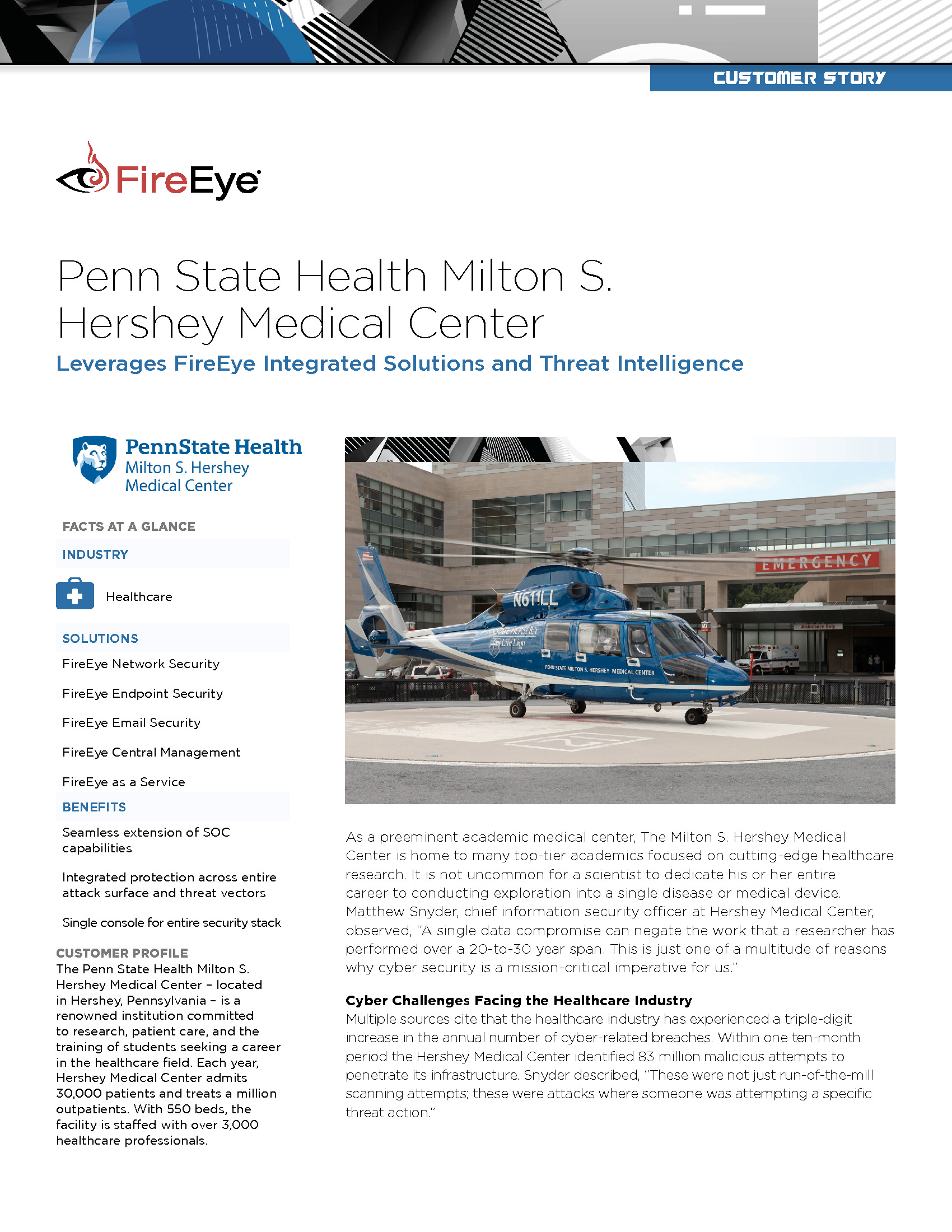 CDE - FireEye - 2018 Education Homepage - Penn State Health Threat Intelligence