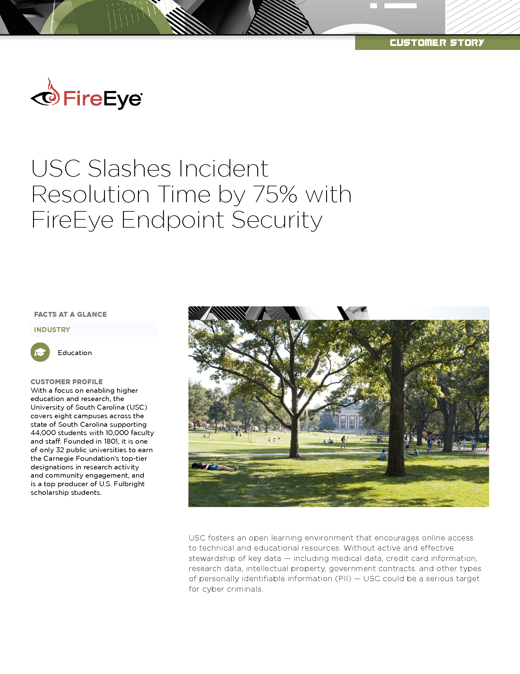 CDE - FireEye - 2018 Education Homepage - USC Endpoint Security