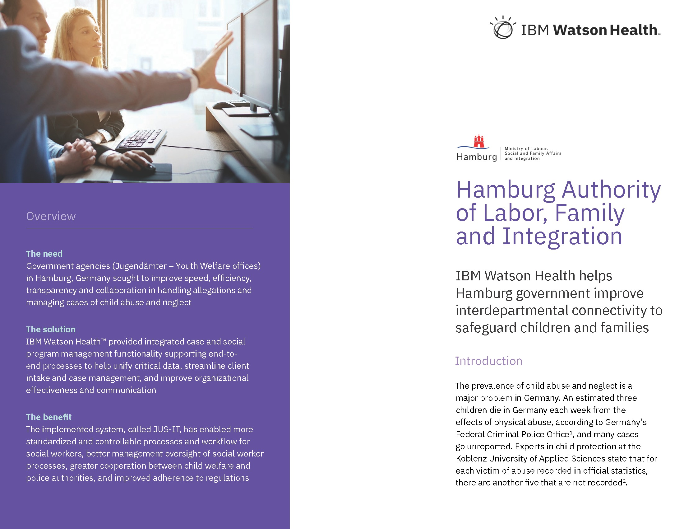 GOV - IBM - Watson Health - 2019 Q2 - Hamburg Authority of Labor