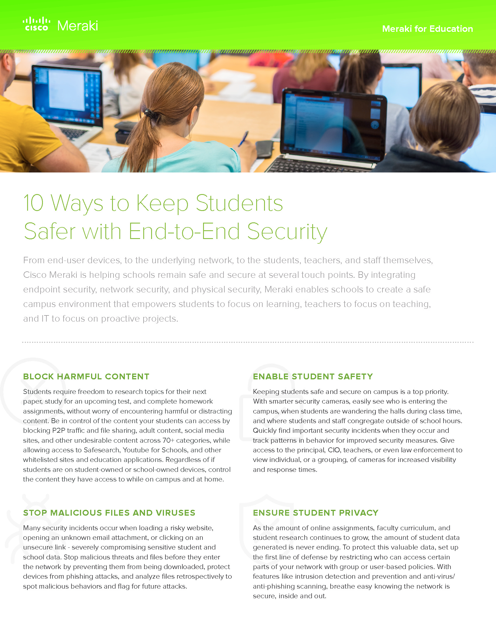 CDE - Cisco Meraki - Client Supplied - 181106 - 10 Ways to Keep Students Safer
