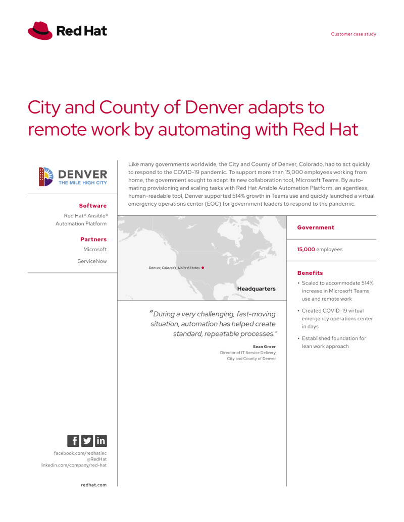 City and County of Denver Adapts to Remote Work with Automation