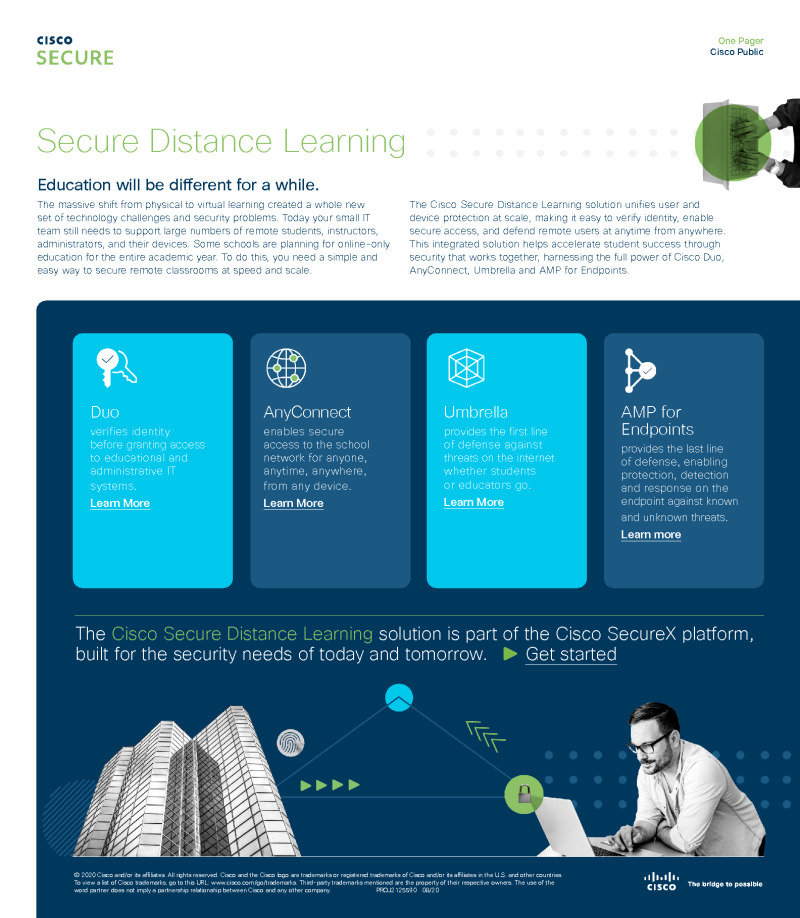 Secure Distance Learning At A Glance