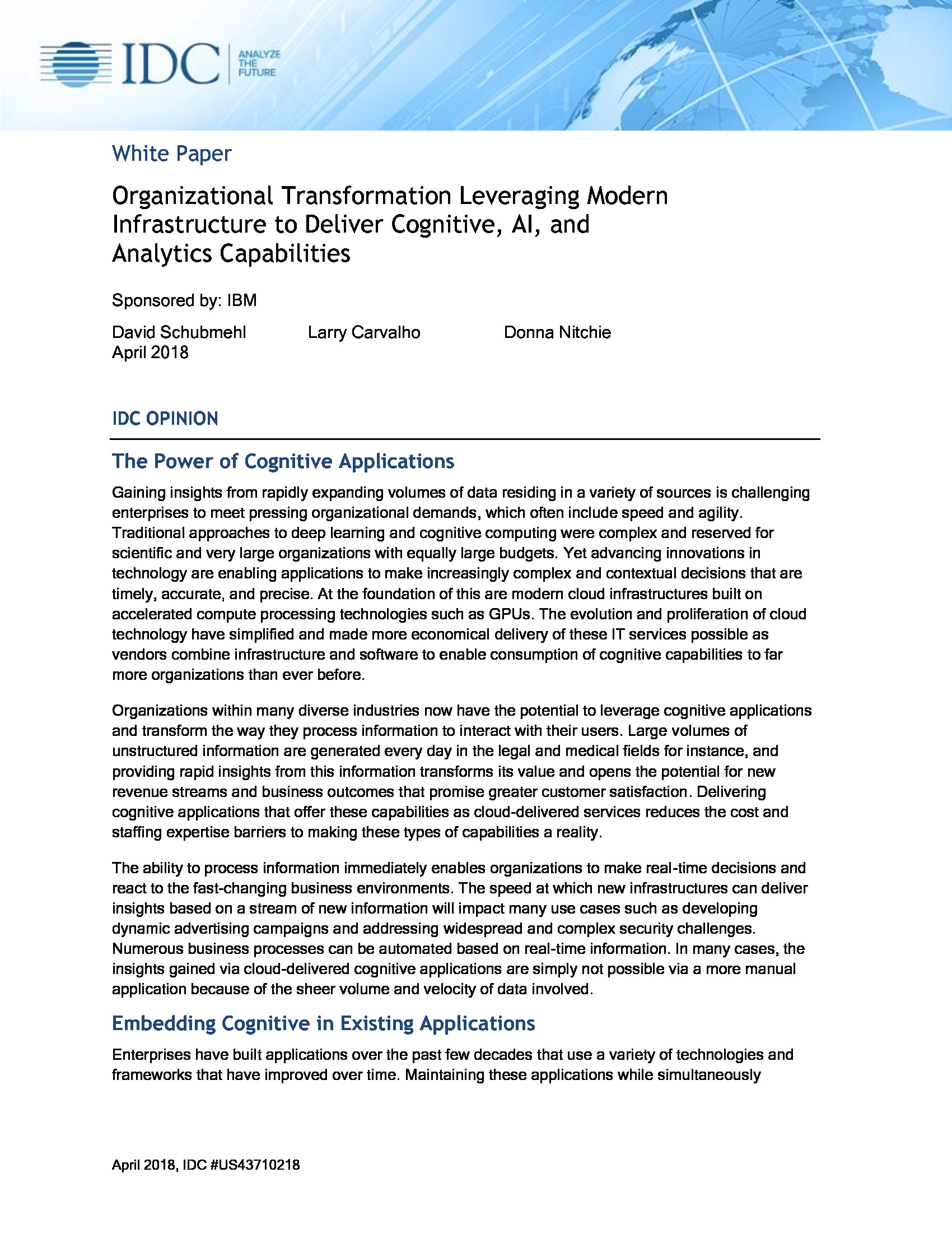GT - IBM - 2018 Cloud Channel - Organizational Transformation